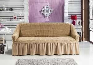 Чехол на 2-х местный диван на резинке BULSAN в цветном ассортименте