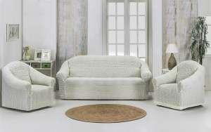 Набор чехлов для дивана и кресел KARNA 3+1+1 без юбки
