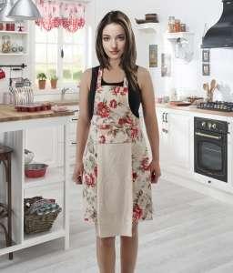 Фартук кухонный KARNA с салфеткой из велюра 30x50 см
