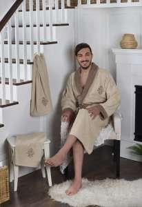 Набор халат махровый и 2 полотенца ADRA L/XL