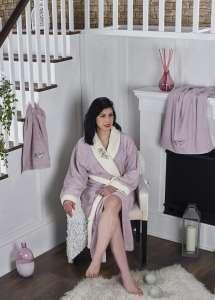 Набор халат махровый и 2 полотенца ADRA S/M