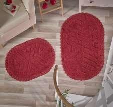 Набор ковриков для ванной Кружевной Cross (ручная работа)