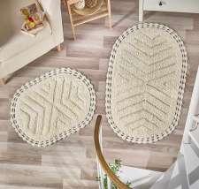 Коврики MODALIN Cross кружевные для ванной комнаты (ручная работа)