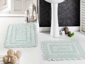 Коврики MODALIN Evora кружевные для ванной комнаты (ручная работа)
