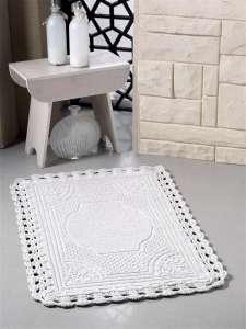 Коврик для ванной кружевной Flora (ручная работа)