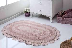 Коврик MODALIN Diana кружевной махровый для ванной комнаты