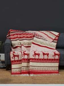 Плед KARNA ALES новогодний с оленями