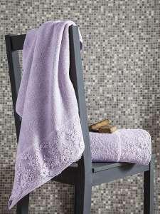 Комплект махровых полотенец c гипюром KARNA ELINDA 50x90-70х140 1/2