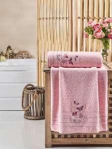 Комплект махровых полотенец KARNA с вышивкой BELINA 50х90-70х140 1/2