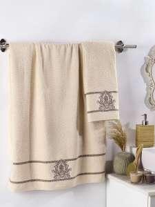 Комплект махровых полотенец KARNA с вышивкой DAVIN 50х90-70х140 1/2