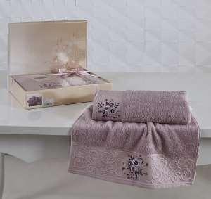 Комплект махровых полотенец KARNA VIOLA 50x90-70х140 см