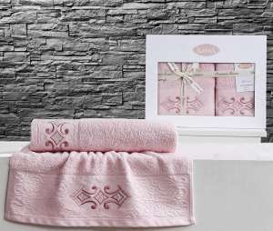 Комплект махровых полотенец KARNA GALATA 50x90-70х140