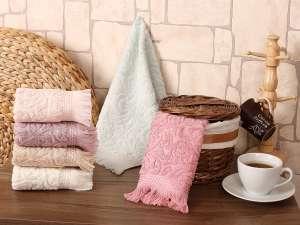 Набор махровых полотенец KARNA ESRA жаккард