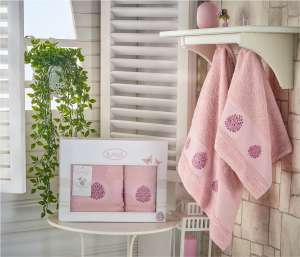 Комплект махровых полотенец KARNA DEVON 50x90-70х140