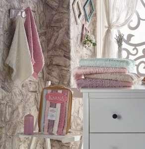 Комплект махровых полотенец KARNA ESRA кухонные