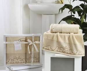 Комплект махровых полотенец KARNA BEYZA 50x90-70х140