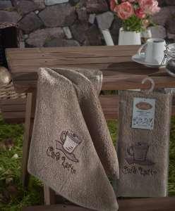 """Салфетки бамбуковые """"KARNA"""" с вышивкой SELF 30X50"""