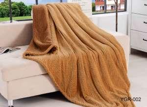 Плед Retrouyt YGR-002 вельсофт коричневый евро