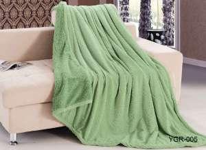 Плед Retrouyt YGR-005 вельсофт зеленый