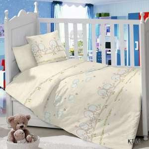 Детское постельное белье в кроватку Сатин Птенцы