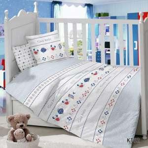 Детское постельное белье в кроватку Сатин Морячки