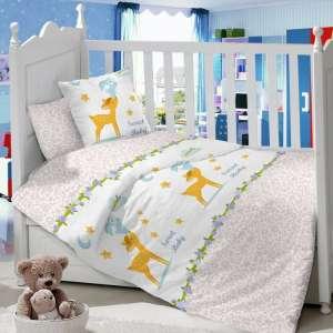 Детское постельное белье в кроватку Сатин Олененок