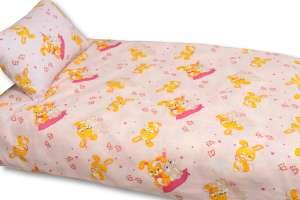 Детское постельное белье в кроватку Поплин (Бязь импортная) Зайки