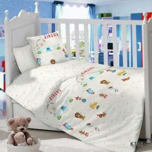 Детское постельное белье в кроватку Сатин Цирк