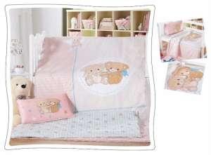 Ясельное постельное бельё сатин-люкс «Мишутки»