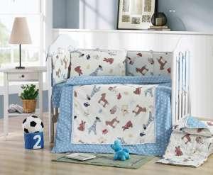 Ясельное постельное бельё сатин-люкс «Игрушки-зверюшки»
