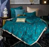 Комплект постельного белья СИТРЕЙД Сатин Роял Тенсель на резинке TSR012
