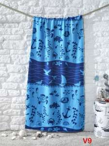 Полотенце пляжное большое с велюром Karna ADRIAN 75х1501/1