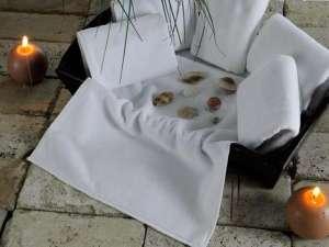 Полотенце махровое KARNA белое, гостиничное EPONJ 400 gsm 16/1 70x140 см 1/1