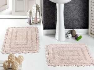 Набор ковриков для ванной Кружевной Evora (ручная работа)