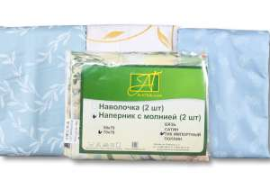 Наперник 2шт, ткань тик импортный с молнией 50х70