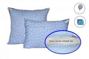 Подушка Лебяжий пухткань чехла-тик 3D NANO